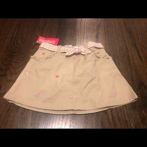 Gymboree belted skirt size 3T NWT